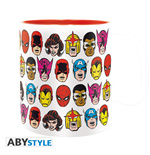 "Marvel - Mug - 460 Ml - ""Marvel Heads"" - Box X2"