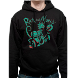 Rick And MORTY: Neon (felpa Con Cappuccio Unisex )