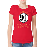 T-shirt Harry Potter da donna - Design: 9 And 3 Quarters