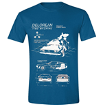 Back To The FUTURE: Delorean Blue Melange (T-SHIRT Unisex )