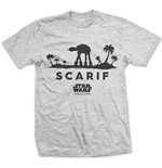 Star WARS: Rogue One AT-AT Silhouette Scarif Grey (T-SHIRT Unisex )