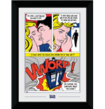 Doctor Who: Pop Art (30Mm Black) (Stampa In Cornice 50x70 Cm)
