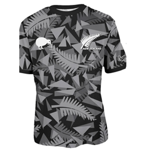 All Blacks Nuova Zelanda T-SHIRT Triangle