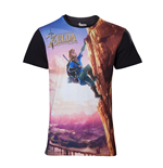 NINTENDO: Legend Of Zelda (THE) - Breath Of The WILD: All Over Link Climbing (T-SHIRT Unisex )