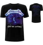 T-shirt Metallica unisex - Design: Ride The Lightning Tracks