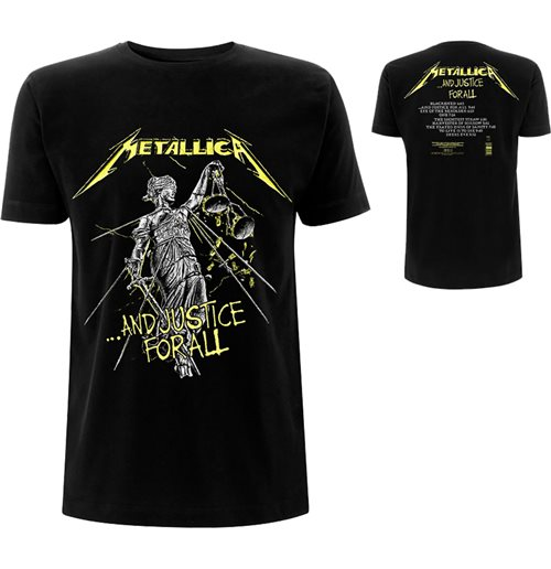 T-shirt Metallica unisex - Design: And Justice For All Tracks