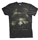 T-shirt Metallica unisex - Design: Master of Puppets Distressed