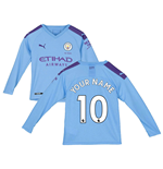 T-shirt manica lunga Manchester City 2019-2020 Home personalizzabile