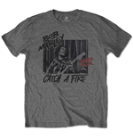 T-shirt Bob Marley unisex - Design: Catch A Fire World Tour