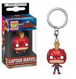 Funko Pop! Keychains: Marvel - Captain Marvel - Captain Marvel W/ Helmet