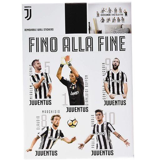 Imagicom Walljuv36 - Juventus Wall Sticker 11 Players 2 Fogli A3