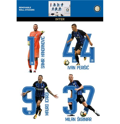 Imagicom Wallint16 - Inter Wall Sticker 7 Players 1 Foglio (50X70Cm)