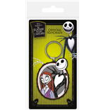 The Nightmare Before Christmas : (Jack & Sally) Rubber K (Portachiavi)
