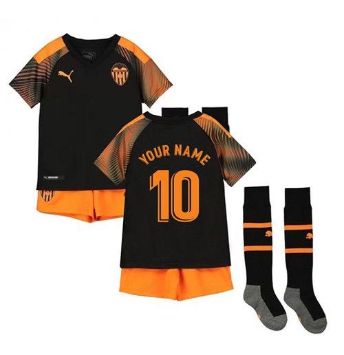Kit da calcio per bambino Valencia 2019-2020 Away personalizzabile
