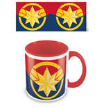 Captain Marvel (Emblem) Red Inner C Mug (Tazza)