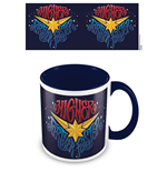 Captain Marvel (Higher Further Faster) Blue Inner C Mug (Tazza)