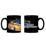 Fast And Furious Tazza In Ceramica 320 Ml Arancione - In Confezione Regalo 12X9X10 Cm