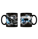 Fast And Furious Tazza In Ceramica 320 Ml Nera - In Confezione Regalo 12X9X10 Cm