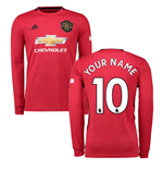 T-shirt manica lunga Manchester United 2019-2020 Home personalizzabile