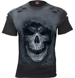 Spiral - Tattered Skull - Distressed Spray On (T-SHIRT Unisex )