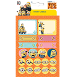 Imagicom Labmin02 - Minions Sticky Labels For Gifts
