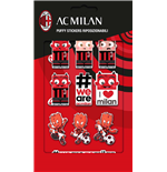 Imagicom Puffmil02 - Ac Milan Puffy Stickers Graphic