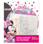 Mc Min0419 - Minnie - Borsetta Da Colorare Con 6 Pennarelli