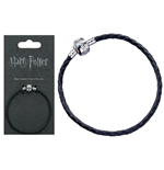 Accessori Hp Black Leather Charm Bracelet