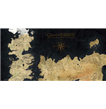 Poster Game Of Thrones Westeros Map On Glass