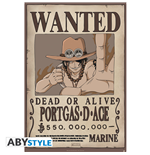 One Piece - Wanted Ace (Stampa 91.5X61 Cm)