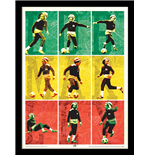 Bob Marley: Football (Stampa In Cornice 30X40 Cm)