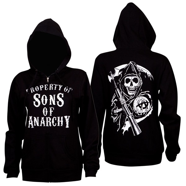 Felpa con cappuccio Sons of Anarchy da donna