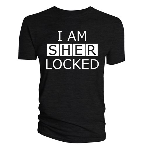 SHERLOCK: I Am Sherlocked Black (T-SHIRT Uomo )