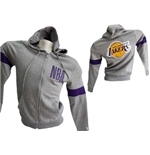 Los Angeles Lakers Felpa Cappuccio FULL-ZIP Ufficiale