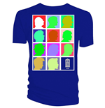 Doctor WHO: Silhouette Grid Multi Blue (T-SHIRT Uomo )