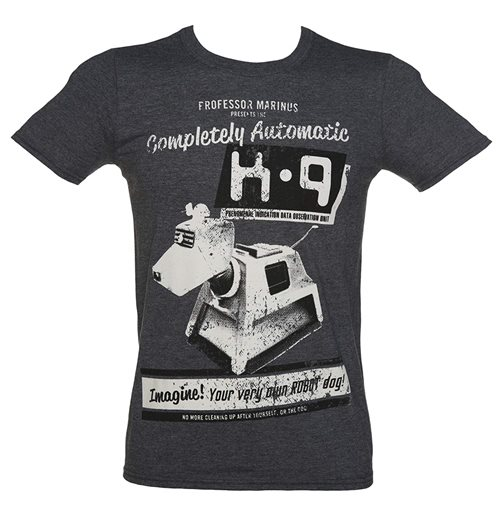 Doctor WHO: K-9 Your Very Own Robot Dog Grey (T-SHIRT Uomo )