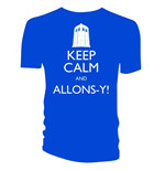 Doctor WHO: Keep Calm And ALLONS-Y (T-SHIRT Uomo )