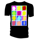 Doctor WHO: Silhouette Grid Multi Black (T-SHIRT Uomo )