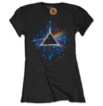 Pink FLOYD: The Dark Side Of The Moon Blue Splatter (T-SHIRT Donna )