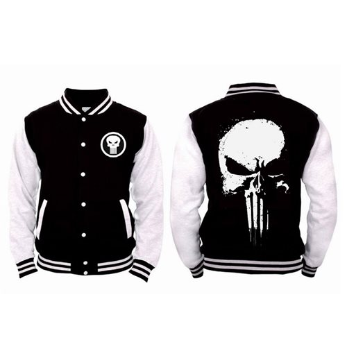 Punisher (THE): Series Skull Black (giacca College Unisex )
