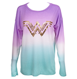 T-shirt manica lunga Wonder Woman da donna
