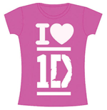 One DIRECTION: I Love Fucsia (T-SHIRT Donna )