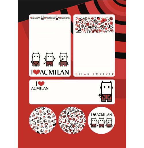 Imagicom Labmil02 - Ac Milan Sticky Labels Graphic