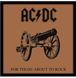 "Ac/Dc : For Those About To Rock -12"" Album Cover Framed Print- (Cornice Lp)"