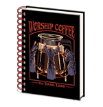 Steven Rhodes: Worship Coffee - The Dark Lord (A5 Wiro Notebook) (Quaderno)