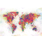 World Map: Colour Splash (Poster 61X91,5 Cm)