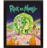 Rick And Morty: Portal (3D Lenticular Poster 25x20 Cm)