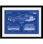 Back To The Future: Blueprint (Stampa In Cornice 30x40cm)