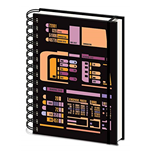 Star Trek: Tng - Control Panel -A5 Wiro Notebook- (Quaderno)