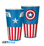 Marvel: Captain America Large Glass 400Ml (Bicchiere)
